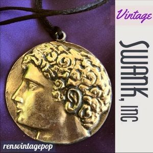Swank Vintage Roman Youth Soldier Necklace
